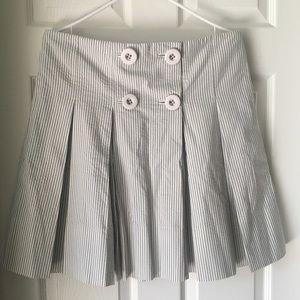 J.Crew Seersucker Pleated Skirt